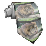 Lion Licking His Chops! Tie